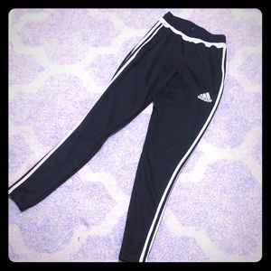 Adidas Tiro Black white training track pants XS